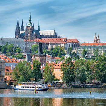 Lesser town panorama with Prague Castle